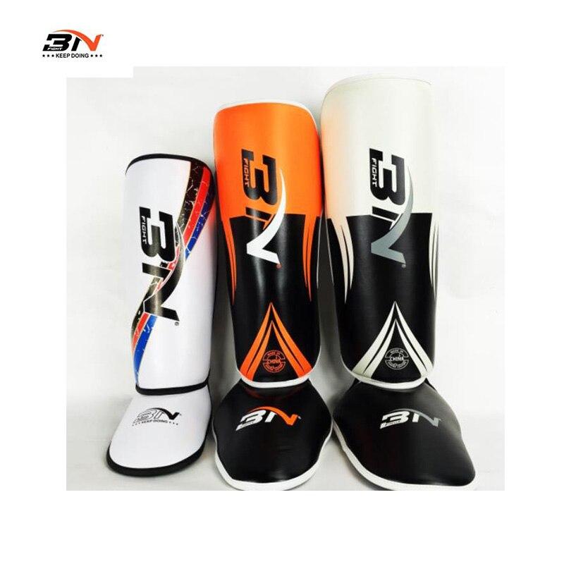 BN Kids/teenage/adult shin guard PU kick boxing leg guards karate sanda taekwondo MMA leg protector sports fitness equipment  цены
