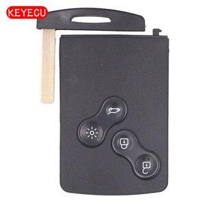 Image 1 - Keyecu Smart Key 4 Taste 433MHz Mit PCF7941 Chip für Renault Megana III Whithout Keyless GO