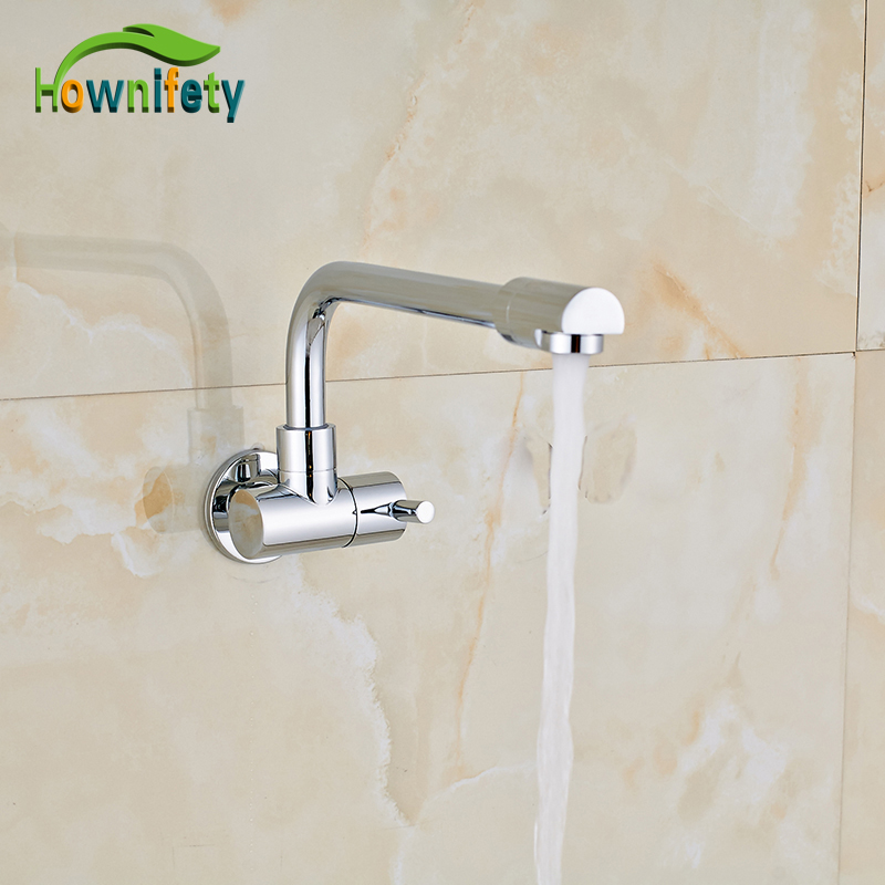 Wholesale and Retail Bathroom Tub Faucet Single Handle Mixer Tap Wall Mounted Chrome Polished Single Cold Water jialuowei brand extreme high heel 18cm 7 sexy fetish hoof heel wedges boots patent leather lace up ballet short ankle boots