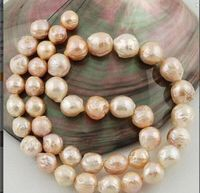 11 10 mm Australian SOUTH SEA gold pink kasumi PEARL NECKLACE 18 inch