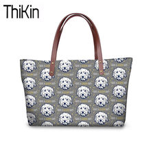 THIKIN Travel Handbags Women Cute Golden Doole Printing Shoulder Tote Bag Ladies Top-Handle Bags for Females Purse&Hand Bag 2019(China)