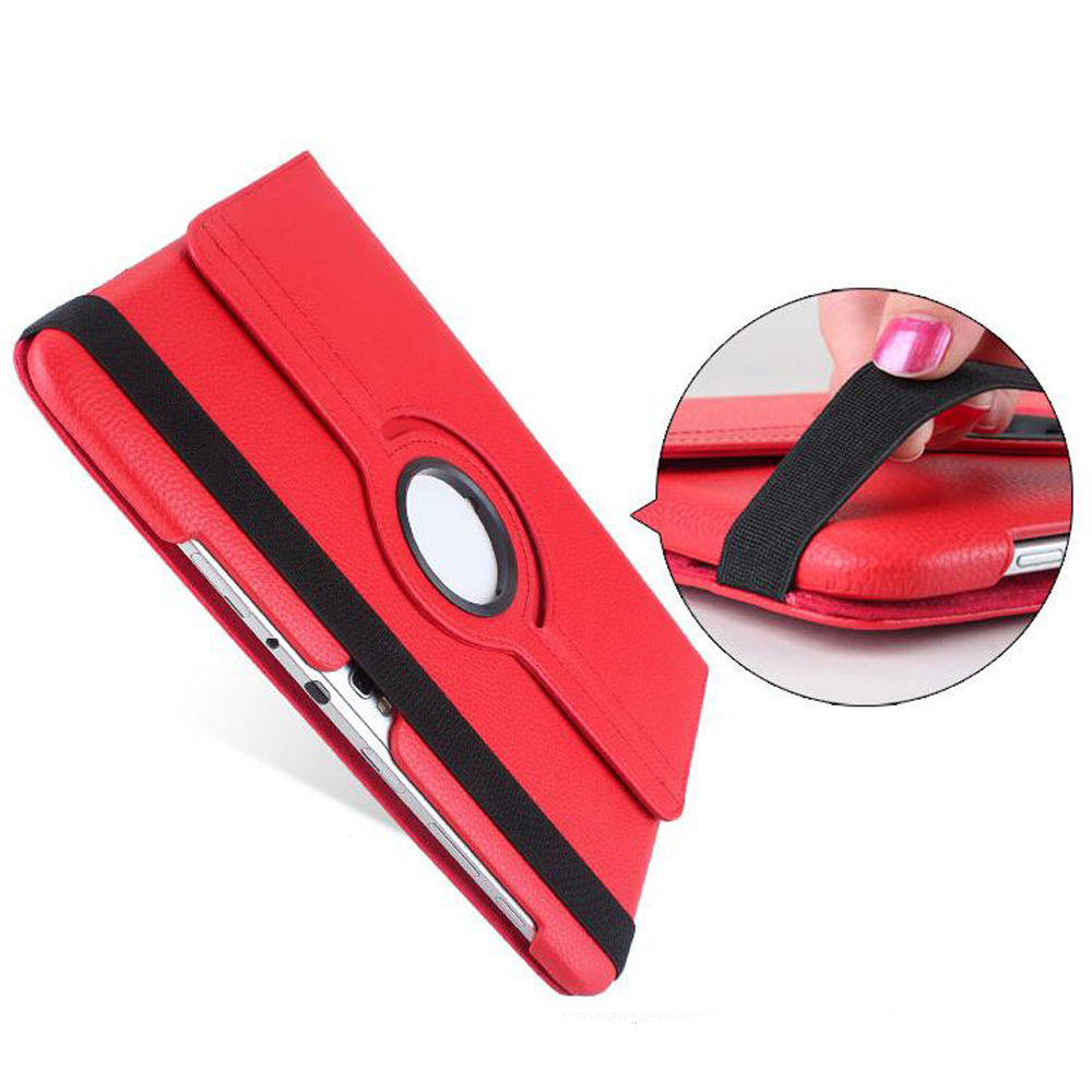 360 Degrees Rotating Stand PU Leather Flip Case For samsung Galaxy Note 10 1 N8000 N8010 N8020 tablet Unique Stained case in Tablets e Books Case from Computer Office