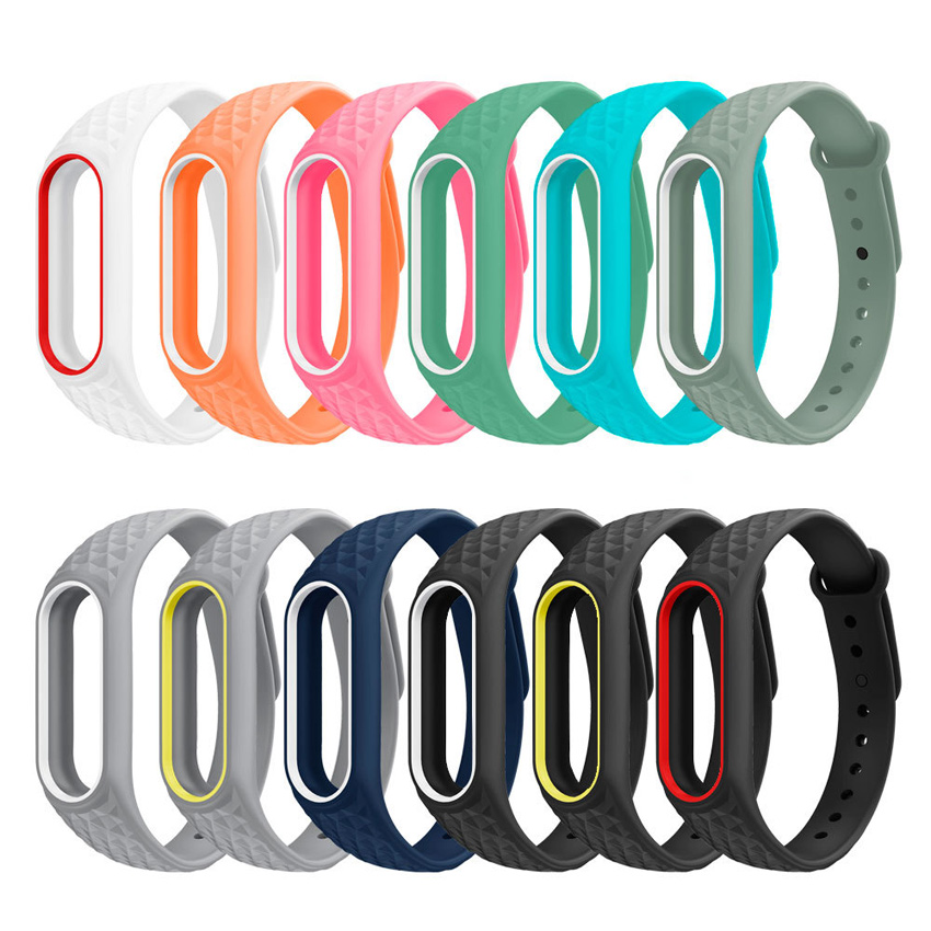 Colorful Replacement Silicone Watch Bracelet Band Wrist Strap For Original Xiaomi Mi Band 2 Smart Bracelet Accessories Sport цена