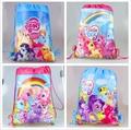 Розничная детская школа сумка мультфильм рюкзаки childmy little pony рюкзак школьные сумки шнурок ребенок мешок