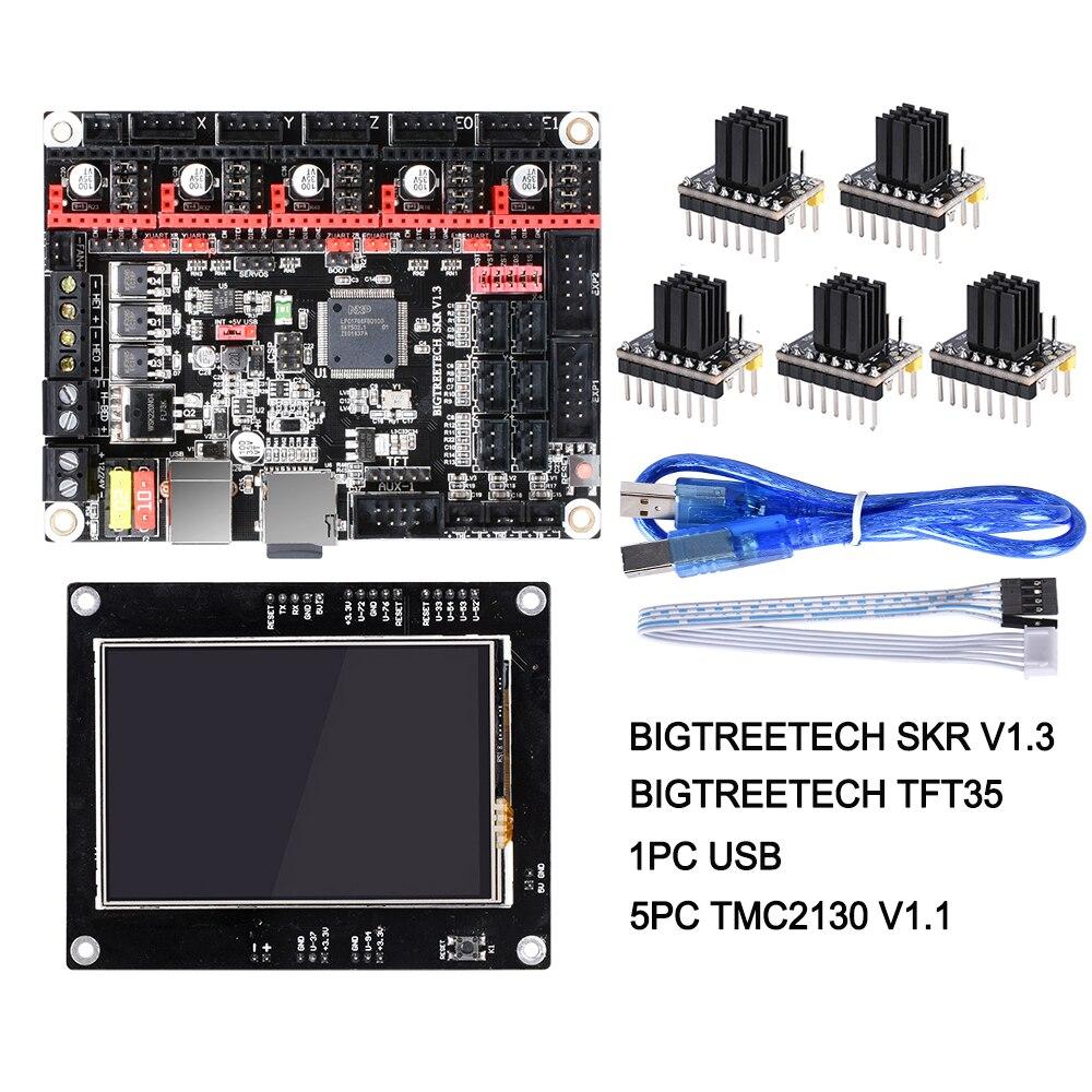 BIGTREETECH SKR V1.3 carte lisse 32 bits + TFT35 V1.2 écran tactile + BLtouch + TMC2130 spi TMC2208 pièces d'imprimante 3D Reprap MKS GEN L