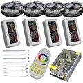 Светодиодный светильник RGBW RGBWW  10 м  15 м  20 м  12 в пост. Тока  Водонепроницаемый 5050 SMD + светодиодный контроллер mi-светильник + адаптер питания