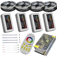 10 m 15 m 20 m rgbw rgbww led strip licht dc12v waterdichte 5050 smd + mi-licht led controller + power adapter kit