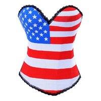 Flag waist training corset corpetes e espartilhos para festa korsett for women espartilhos corsetti e bustier corpet korse
