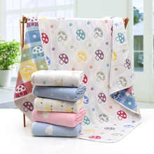 Baby Blanket Infant Bebe Thicken 6 Layers Muslin Swaddle Envelope  Cartoon Blanket Newborn Baby Bedding Wrap Blankets 120*150cm high quality baby blanket infant bebe flannel swaddle envelope stroller cartoon blanket with toy newborn baby bedding blankets