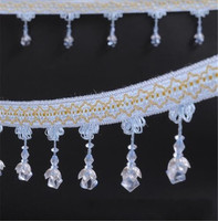 12m Lotus Flower Bead Tassel Lace Curtain Trimmings Fringes Hanging Trim Sofa Curtains Accessories Decor