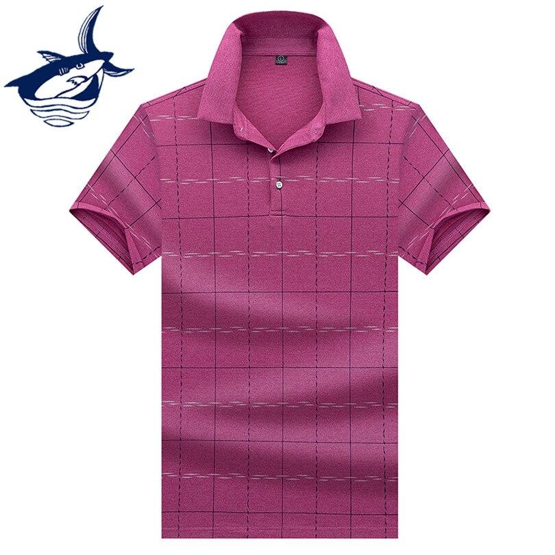 Casual Men's Top Brand Tace & Shark   Polo   Shirt 2019 Summer Cotton Short Sleeve Men   Polos   Shirt Plaid Business   Polo   Shirts
