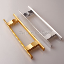 Modern space aluminum glass door handle supermarket office bathroom champagne/Alumina color JF1247