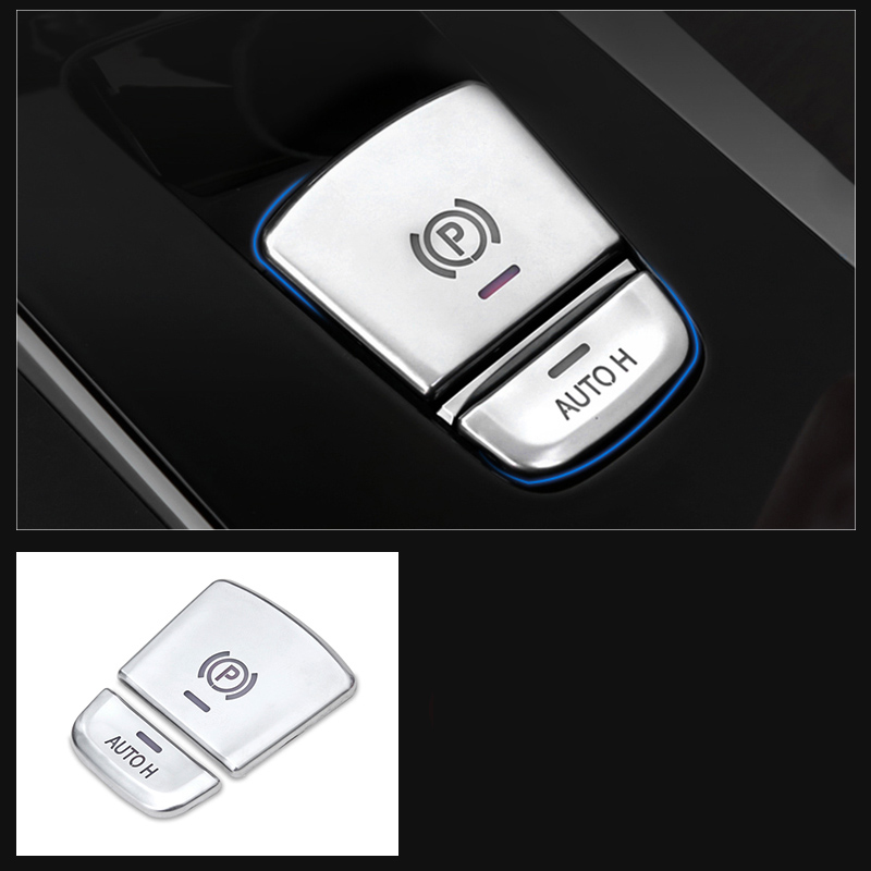 lsrtw2017 pearl chrome abs car Electronic handbrake auto hold buttons trims for bmw g30 g31 525 520 530 528 540 535 2018 2019 in Interior Mouldings from Automobiles Motorcycles