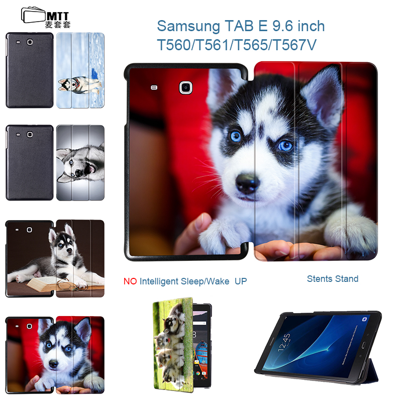 MTT HUSKY Dog Skin For Samsung Galaxy Tab E 9.6 inch Flip Folding Cover Case For Samsung Galaxy Tab E 9.6'' SM-T560 T561 Tablet планшет samsung galaxy tab e 9 6 8gb 3g black sm t561