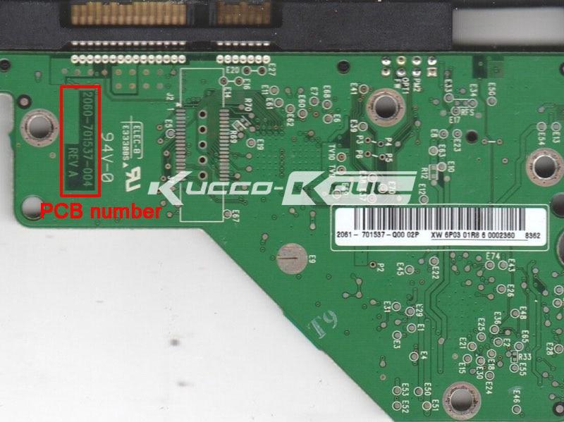HDD PCB Logic Board 2060-701537-004 REV A For WD 3.5 SATA Hard Drive Repair Data Recovery