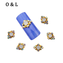 10pcs New Alloy 3d Nail Art AB Crystal Glitter Rhinestone Nail Designs DIY Beauty Styling Nail Decoration Tools