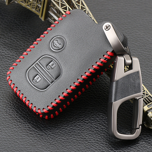Image 3 - Genuine Leather Car Key Case Cover For Toyota Land Cruiser Prado 150 Camry Prius Crown For Subaru Foreste XV Keychain Holder