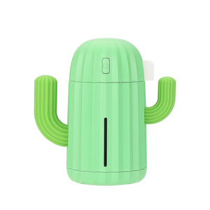 Image 5 - 340ML Cactus Air Humidifier Battery Operated Rechargeable USB Aroma Essential Oil Diffuser With Warm Light Cactus Air Purifier