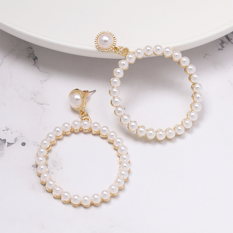 FASHIONSNOOPS New Sea Shell Pendant Earrings Gold Statement Earrings For Women Weddings Party Irregular Geometric Jewelry Gift Multan