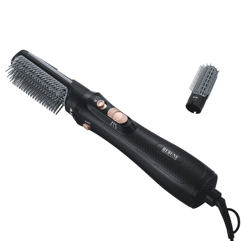 REBUNE Hair Styler 1000W Hair Dryer RE 2061 1 With 1 Attachment RE 2061 2 With