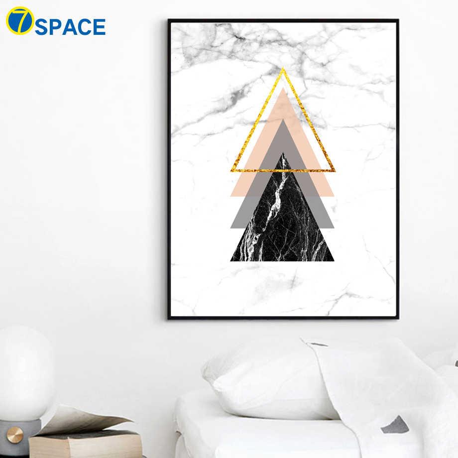 Геометрические мраморные Ampersand стены искусства холст картины плакаты на скандинавскую тему и принты абстрактные настенные картины для гостиной домашний декор