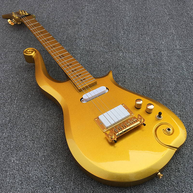 2018 New Prince Cloud electric guitar,Maple fingerboard with Golden body!1*humbucker 2*single coils,High quality,free shipping!