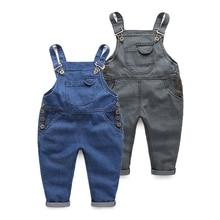 spring boys bib Jeans Adjustable strap Kids Fashion Autumn