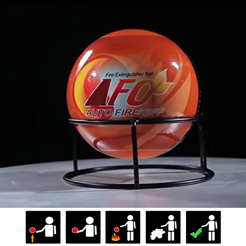 Medium Size Fireball Automatic Fire Extinguisher Ball With Wall Mount Bracket Composed Of Environmental Harmless Dry Powder