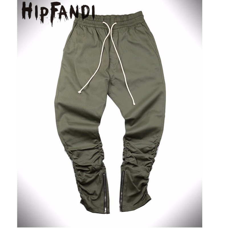HIPFANDI Justin Bieber Style Side Zipper Men Slim Fit Casual Mens Hip Hop Jogger Biker Pants Swag Sweatpants Skinny Trousers