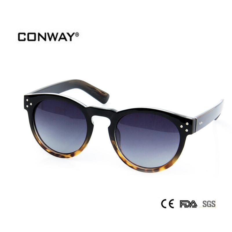 e097ed8cd CONWAY 2017 Moda Polarized óculos de Sol para As Mulheres Designer de Marca de  Óculos de Sol Polaroid Óculos de lentes Redondas óculos de Sol PC00401