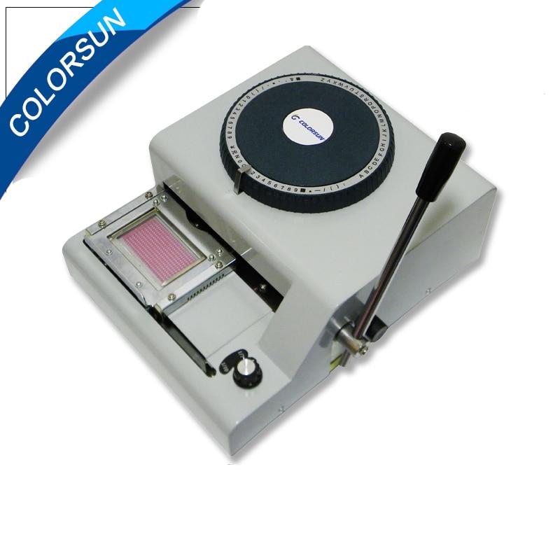 ПВХ код принтер для выбивает номер на ПВХ карты