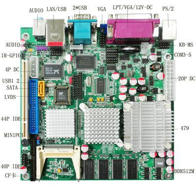 170*170 Industrial Machine Main Board  Dual channel LVDS Computer Motherboard 170