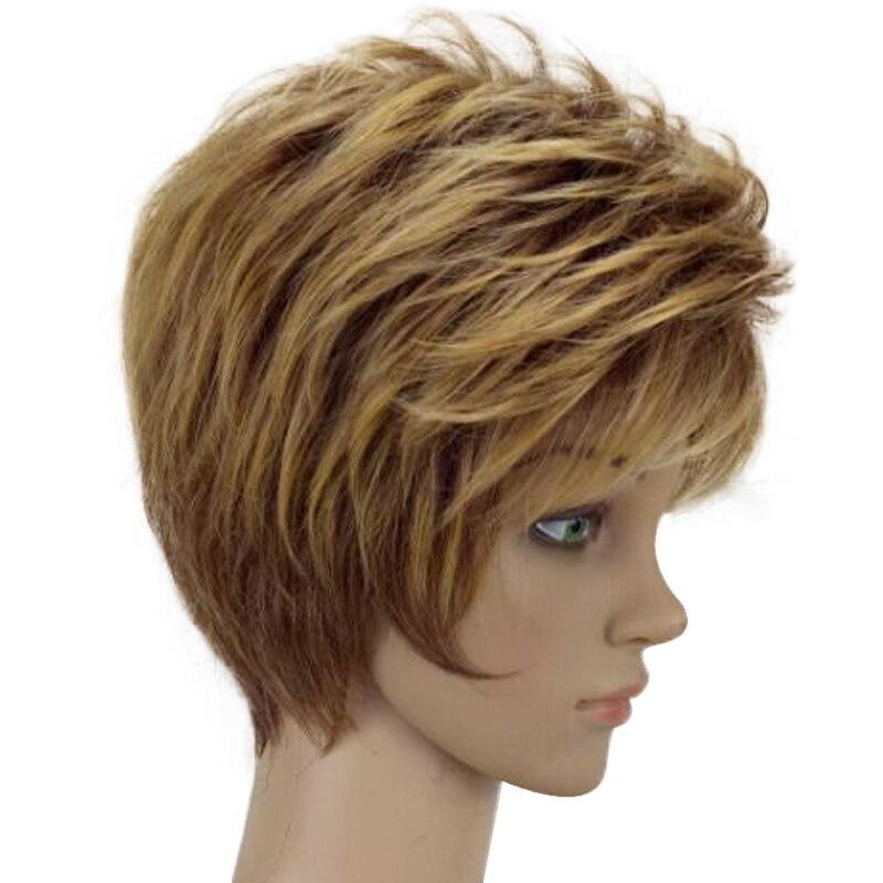 HAIRJOY Γυναίκα Ξανθιά Μικτή Σύντομη - Συνθετικά μαλλιά - Φωτογραφία 2
