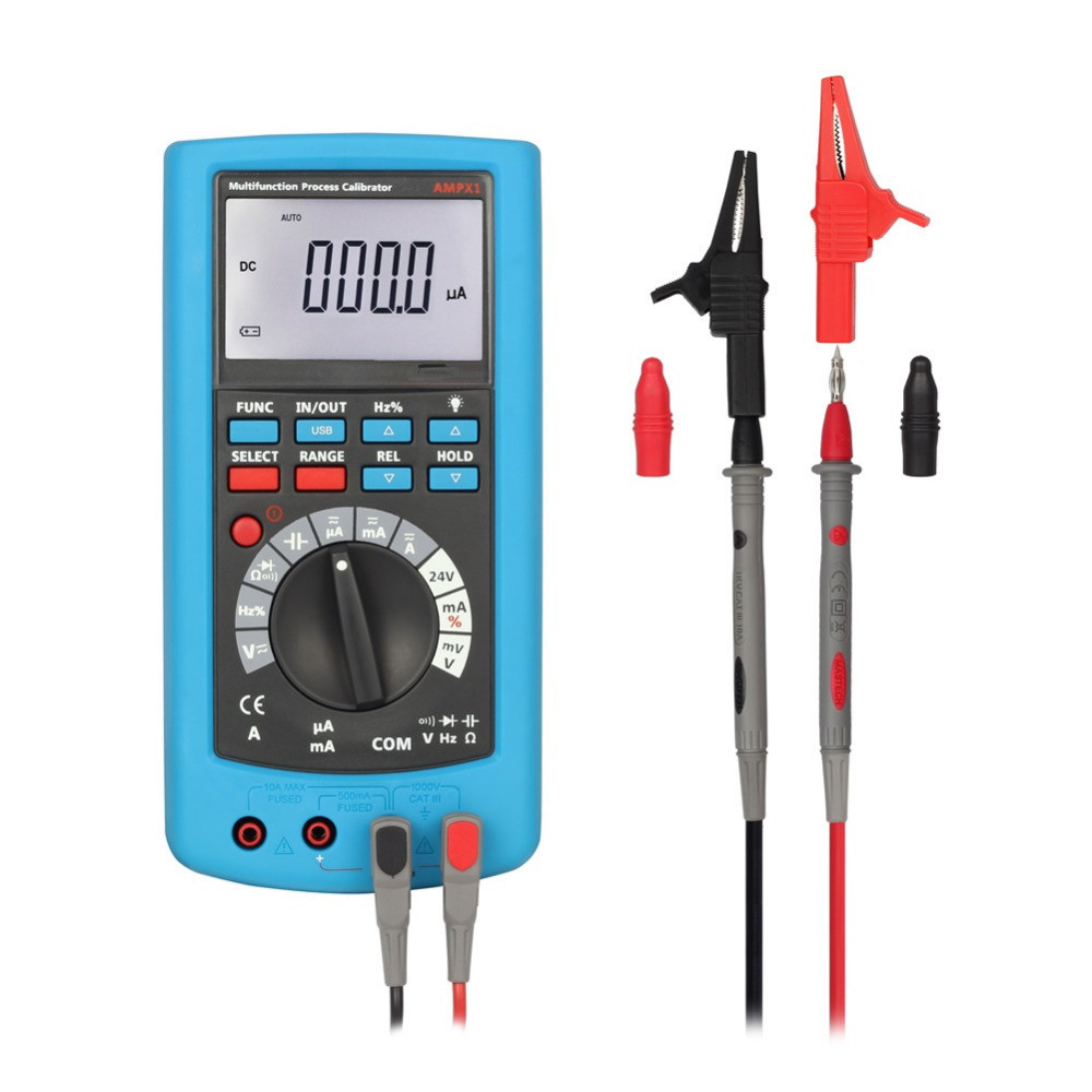 Free Shipping 2 in 1 Multifunctional Process Calibrator Digital Multimeter Voltage Current Calibration Signal Generator Meter free shipping newest mastech ms7220 thermocouple calibrator meter tester thermocouple calibrator express shipping