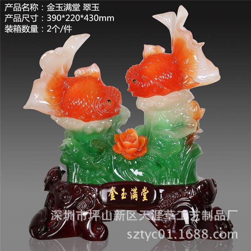 Fabricants résine ornements chanceux décorations pour la maison ornements petits animaux petit poisson en gros fête