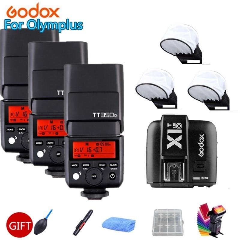 3X Godox TT350O Mini Wireless Camera Speedlite Flash TTL HSS 1/8000S for Olympus E-M10 E-M5 II E-M1 E-PL8 E-PL7 E-PL6 E-PL5 3 недорого