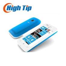 """Оригинальный разблокирована nokia lumia 710 mobile phone wifi 3 г gps 5mp 3.7 """"сенсорный экран 8 ГБ встроенной памяти восстановленное бесплатная доставка"""