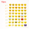 10 unids pegatina corte 48 classic Emoji álbumes pegatinas cara de la Sonrisa para el cuaderno, mensaje de Twitter Instagram Large Viny juguetes Clásicos