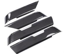 4pcs Carbon Fiber Style ABS Plastic Inner Door Decoration Cover Trim For Landrover Range Rover Sport RR Sport 2014-2017 NEW!! цены