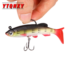 цены YTQHXY 1Pcs/lot Fishing Lure Soft Bait 85mm 13g Isca Artificial Baits Silicone Wobblers Sea Bass Carp Fishing Lead Fish Jig WQ96