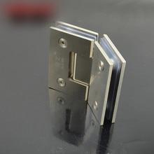 Угол 135 Прочной нержавеющей стали, стеклянная дверная петля петля для стеклянной двери душевая комната стеклянные двери клип