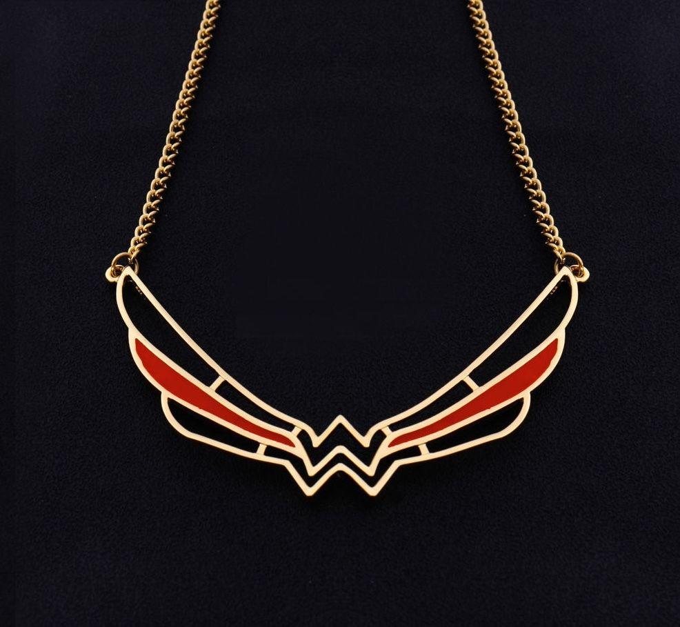 HTB1iQaJRFXXXXabXpXXq6xXFXXXM - 2017 Wonder Woman Symbol Necklace Super Hero Comic Jewelry