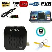 Skysat V9 Plus Full HD DVB-S2 Receptor de Satélite Digital Sintonizador de TV WiFi de la ayuda Youtube Cccam PVR Vu Energía Biss IKS CS AC3