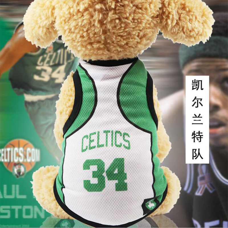 1e8323171 Medium Small Dog Basketball Vest Clothes NBA Lakers Bulls Cavaliers Celtics  Shirt Teddy Puppy Sport Costume-in Dog Vests from Home   Garden on ...