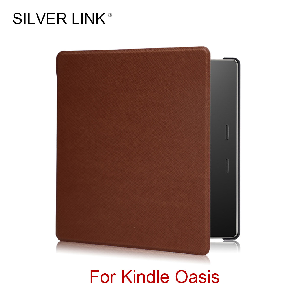 SILVER LINK Kindle Oasis Case UP Faux Leather Cover For Kindle 7in E-reader Auto Sleep/Wakeup Hard Shell my abc sticker activity book