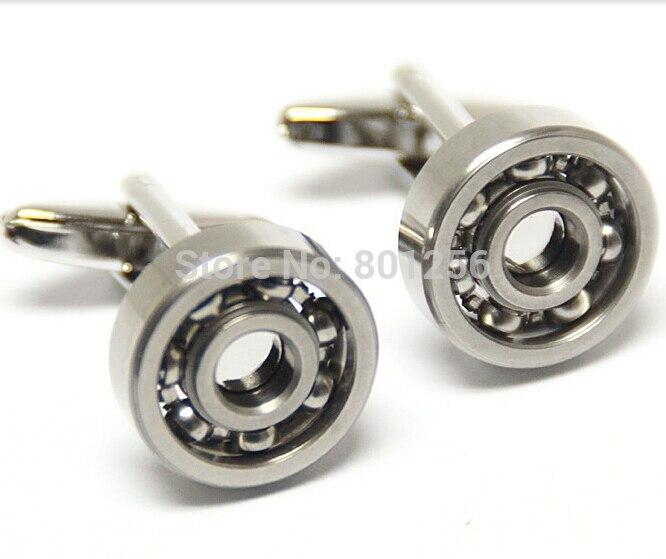 Novelty turnable ball Fashion Cufflinks silver round diversity of mechanic design functional cufflinks wholesale&retail