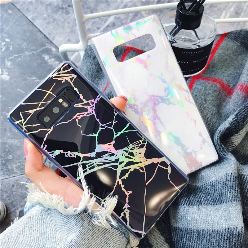 AXBETY For Sumsung Galaxy s8 Plus Cover Fashion Marble silicon Phone Case For sumsung S8 Case Gold Plating Colorful Shell Case