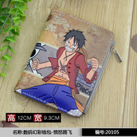 New Anime Wallet Pirates Of The Road Lu Fei Anger Red Coat Straw Hat Is Still