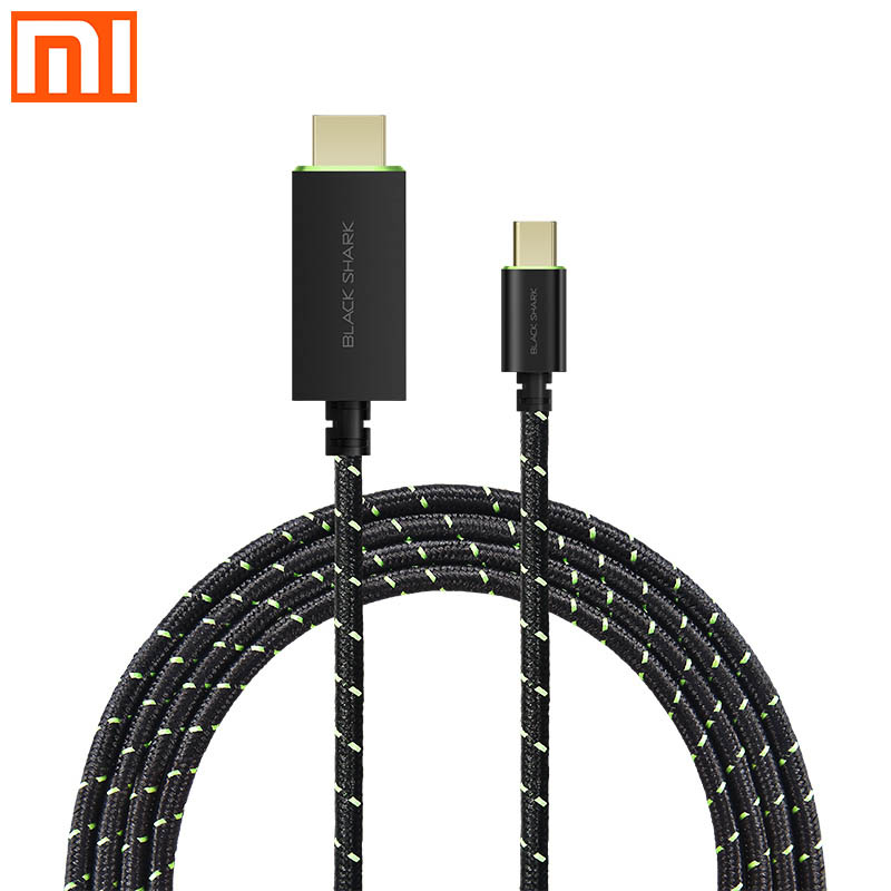Xiaomi Black Shark Type C to HDMI cable braided wire gold plated process game projection for
