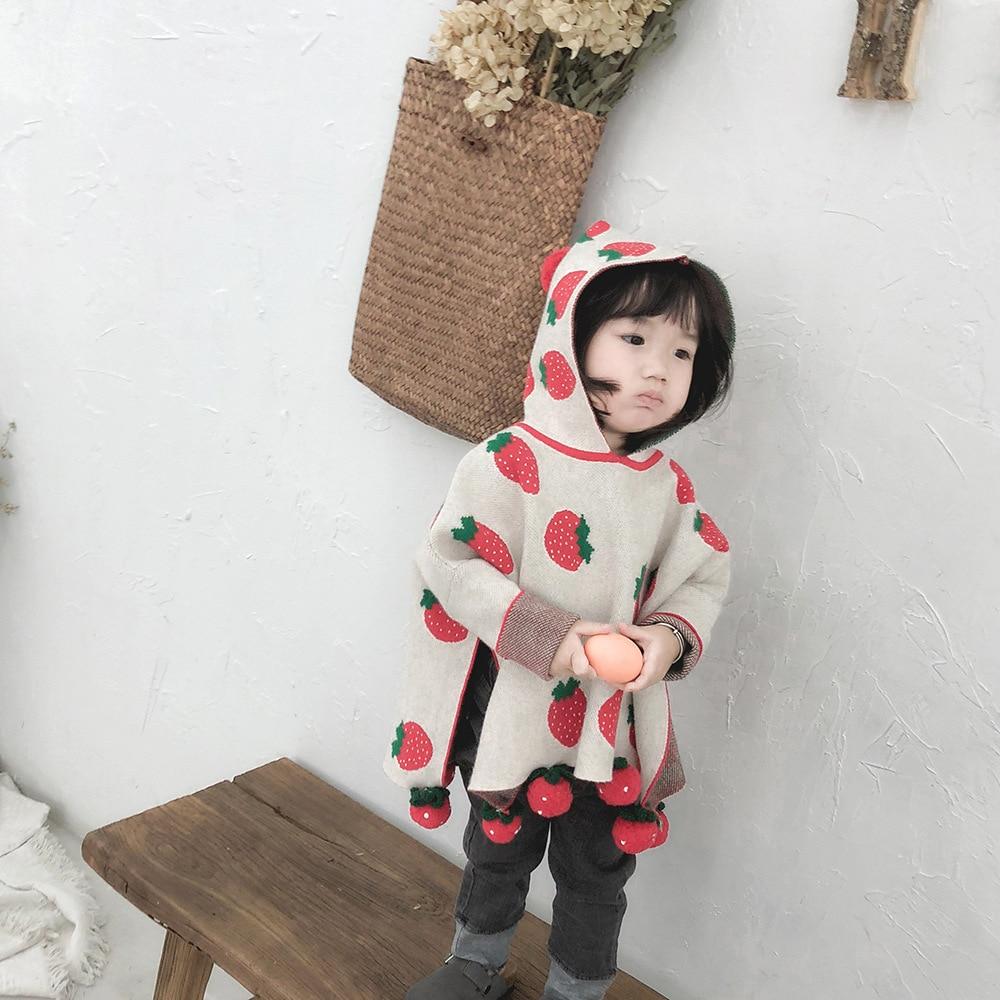 Compre Bebé Suéter De Punto Bebé Niña Suéter Capa Pompom Niñas ...